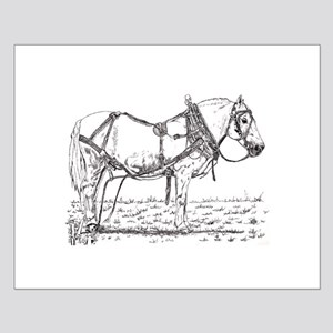 Pulling Pony in Harness Small Poster