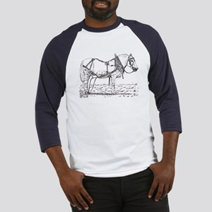 Pulling Pony in Harness Baseball Jersey