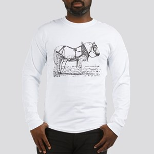 Pulling Pony in Harness Long Sleeve T-Shirt