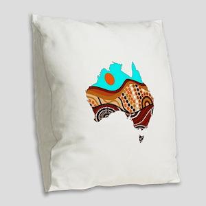 AUSSIE Burlap Throw Pillow