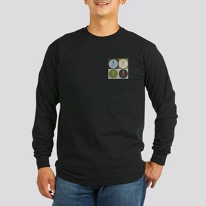 Surveying Pop Art Long Sleeve Dark T-Shirt
