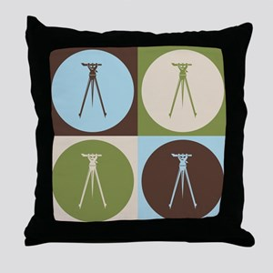 Surveying Pop Art Throw Pillow
