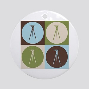 Surveying Pop Art Ornament (Round)