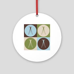 Surveying Pop Art Ornament (Round)