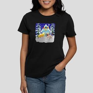 Santas Place Pug Women's Dark T-Shirt