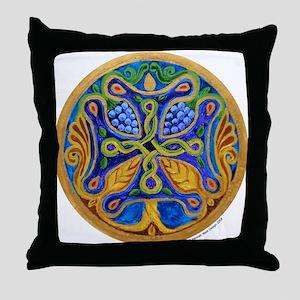 Armenian Tree of Life Cross Mandala Throw Pillow