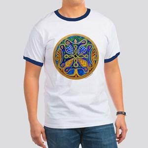 Armenian Tree of Life Cross Mandala Ringer T