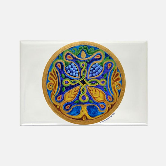 Armenian Tree of Life Cross Rectangle Magnet