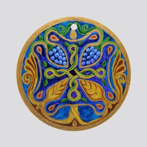 Armenian Tree of Life Cross Ornament (Round)