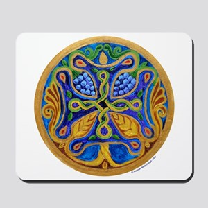 Armenian Tree of Life Cross Mandala Mousepad