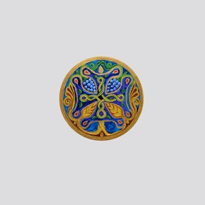 Armenian Tree of Life Cross Mandala Mini Button
