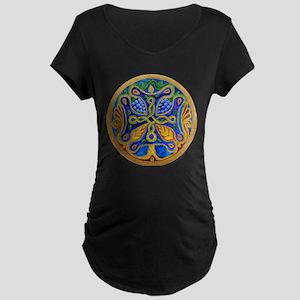 Armenian Tree of Life Cross Maternity Dark T-Shirt