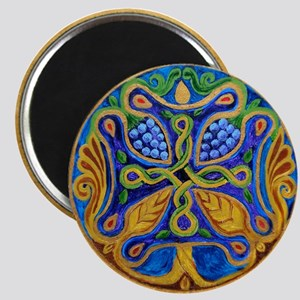 Armenian Tree of Life Cross Mandala Magnet