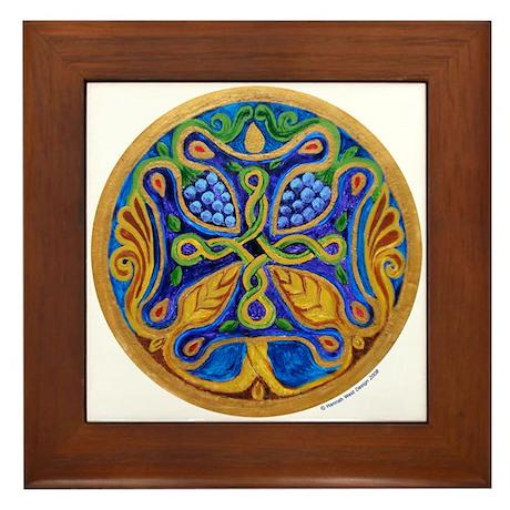 Armenian Tree of Life Cross Mandala Framed Tile