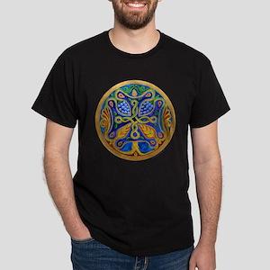 Armenian Tree of Life Cross Mandala Dark T-Shirt