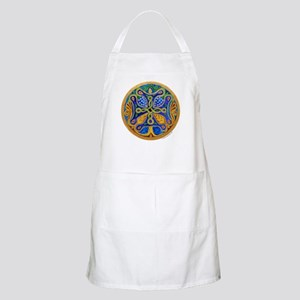 Armenian Tree of Life Cross Mandala BBQ Apron