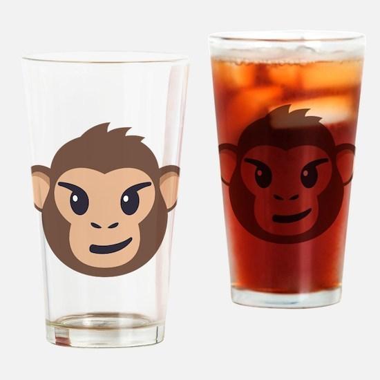 Emojione Monkey Smirk Drinking Glass