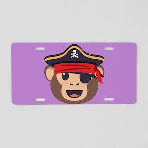 Emojione Monkey Pirate Aluminum License Plate