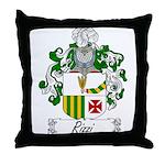 Rizzi Family Crest Throw Pillow