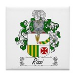 Rizzi Family Crest Tile Coaster