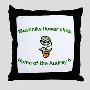 Mushniks Throw Pillow