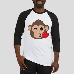 Emojione Monkey Kiss Baseball Tee