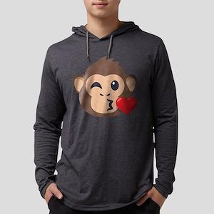 Emojione Monkey Kiss Mens Hooded Shirt