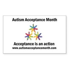 Autism Acceptance Month Sticker (Rectangle)