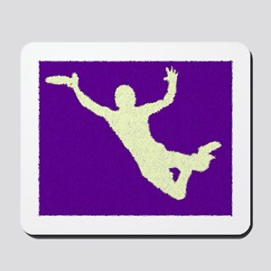 PAINTED PURPLE YELLOW DISC CATCH Mousepad