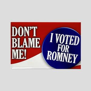 I voted for Romney Rectangle Magnet