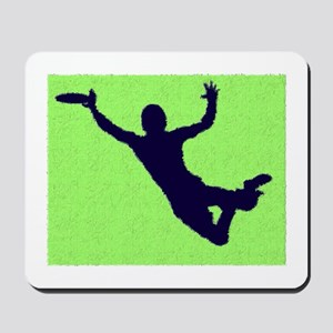 PAINTED GREEN BLUE DISC CATCH Mousepad
