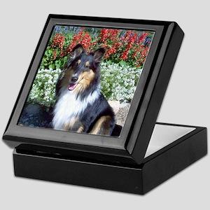 Summer Flower Sheltie Keepsake Box