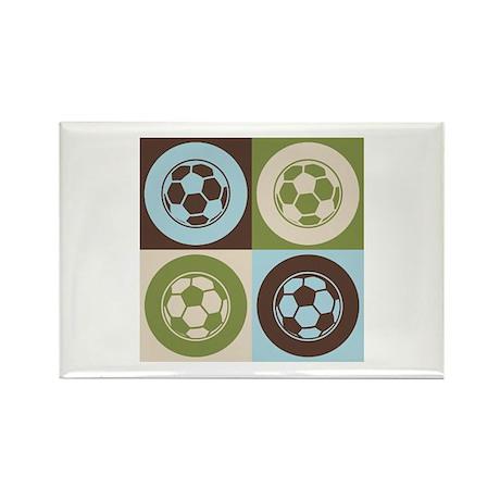 Soccer Pop Art Rectangle Magnet (10 pack)