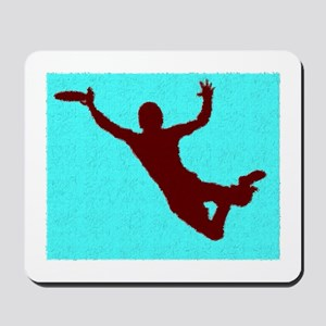 PAINTED BLUE RED DISC CATCH Mousepad