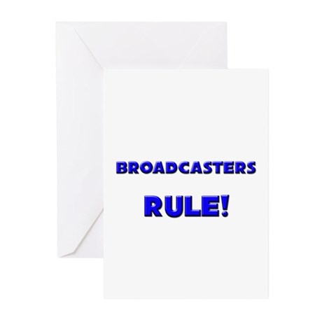 Broadcasters Rule! Greeting Cards (Pk of 10)