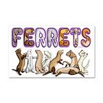 Ferret Font Car Magnet 20 X 12
