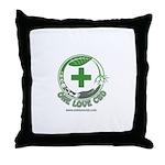 One Love CBD logo Throw Pillow