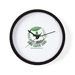 One Love CBD logo Wall Clock