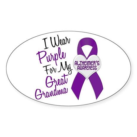 I Wear Purple For My Great Grandma 18 (AD) Sticker