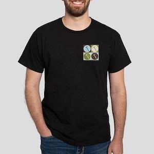 Roofs Pop Art Dark T-Shirt