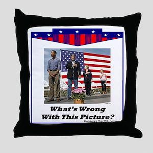 """Patriotic?"" Throw Pillow"