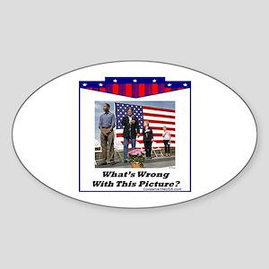 """Patriotic?"" Oval Sticker"