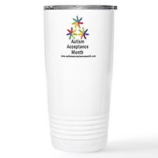 Autism Acceptance 16 oz Stainless Steel Travel Mug