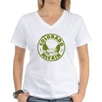 Colorado For McCain (Green) Women's V-Neck T-Shirt