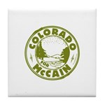 Colorado For McCain (Green) Tile Coaster