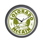 Colorado For McCain (Green) Wall Clock