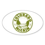 Colorado For McCain (Green) Oval Sticker (10 pk)