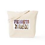 Ferret Font Tote Bag