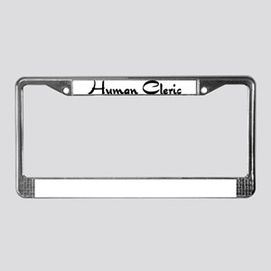 Human Cleric License Plate Frame