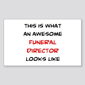 awesome funeral director Sticker (Rectangle)